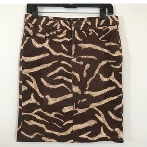 Lauren Ralph Lauren Animal Print Pencil Skirt SZ 2